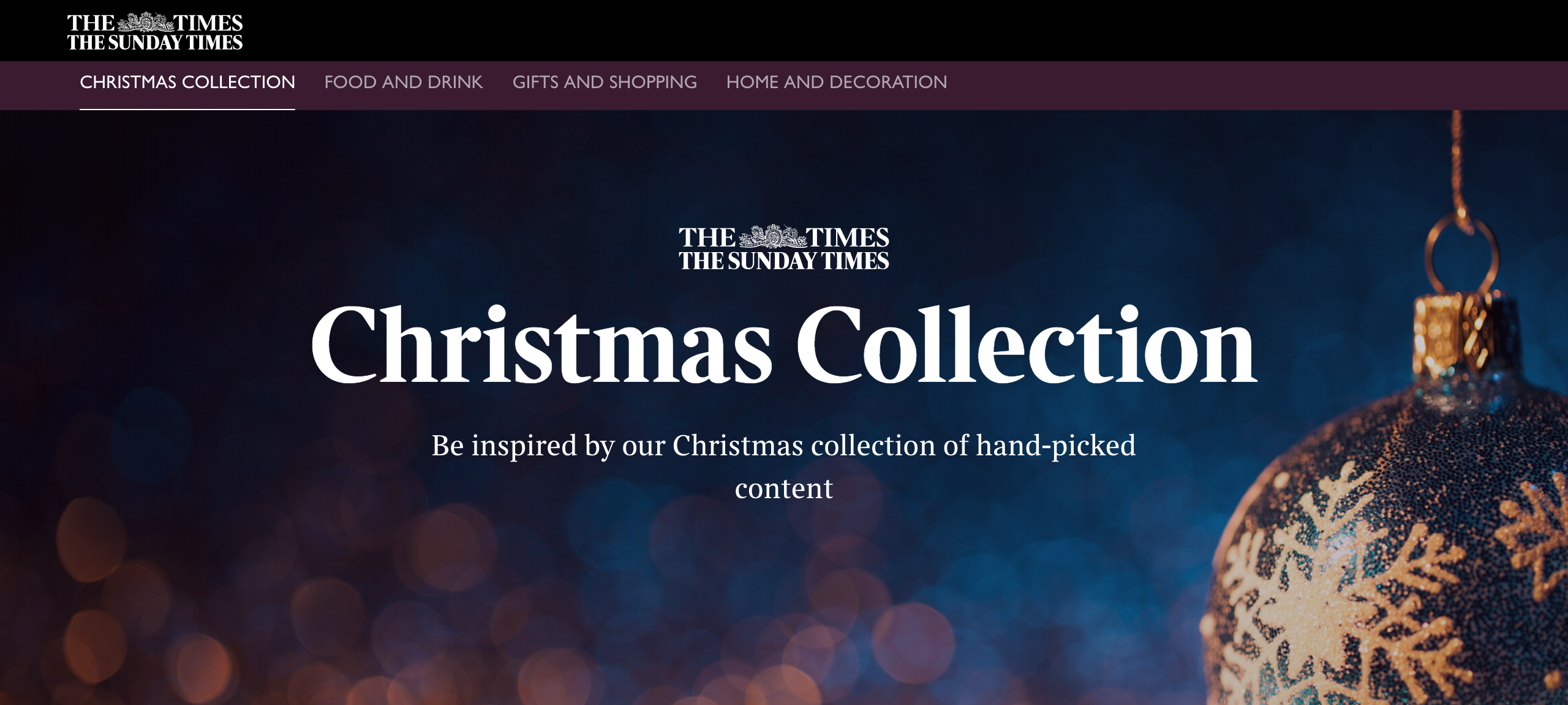 "Celebrating ""The Times Christmas Collection"" Launch"
